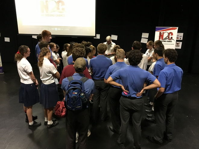 N2C Presenters talk with the students at Brisbane State High School