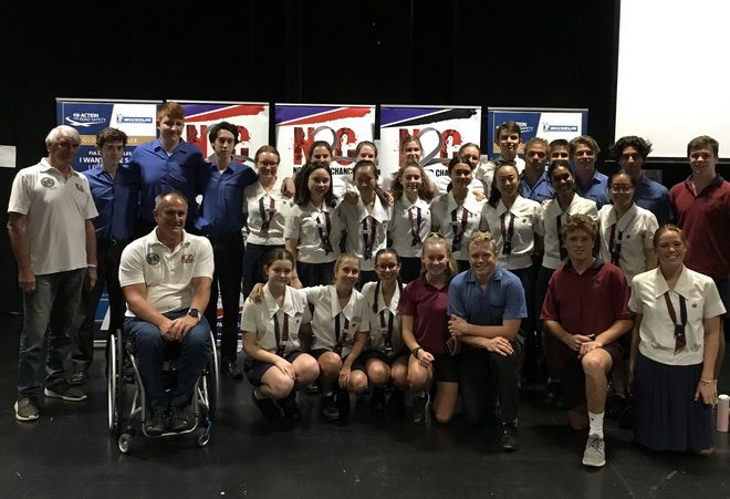 N2C Presenters with the Prefects at Brisbane State High School