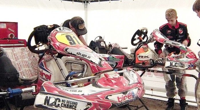 N2C Kart Team has Difficult Time at Lithgow