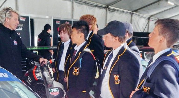 Scotch College Students Visit N2C at Clipsal