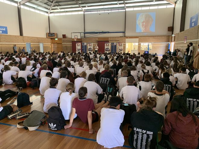 Paul Stanley with N2C at Aberfoyle Park High School