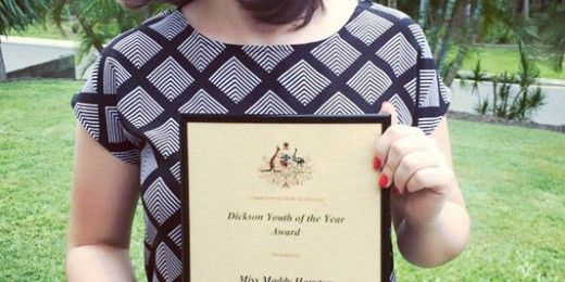 Maddy Houston Recognised for her Efforts